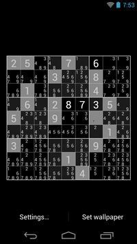 Sudoku Live Wallpaper apk screenshot