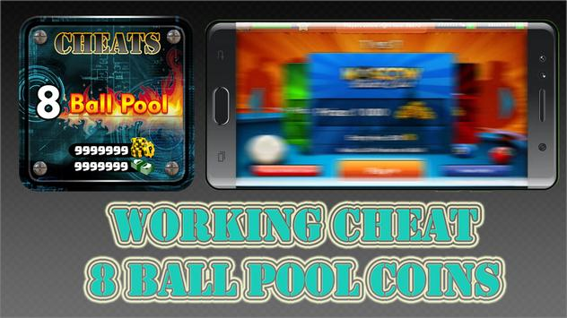 Cheat Coins Free For 8 Ball Pool Prank VIP Pros poster