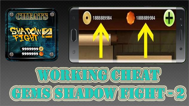 Gems Cheats For Shadow Fight 2 Game App Prank Pro poster