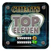 Token Cheats For Top Eleven Game App Prank Gems icon
