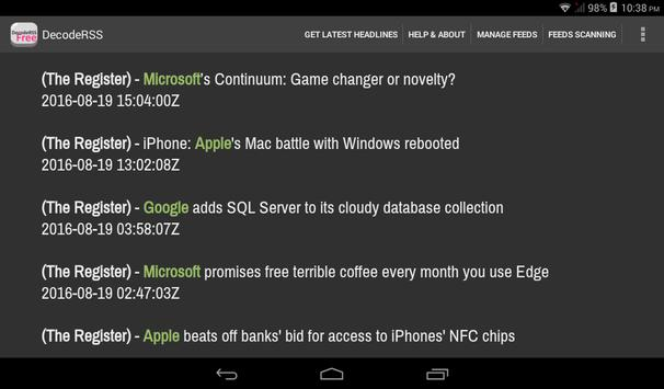 DecodeRSS Free (RSS Reader) for Android - APK Download