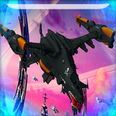 Space racing 3d game Riders icon