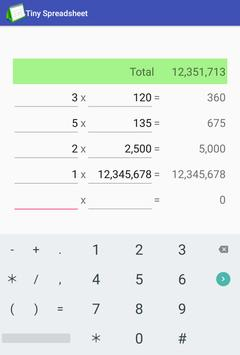 Tiny Spreadsheet screenshot 2