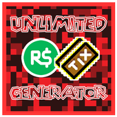 Unlimited Robux and Tix For roblox Prank icon