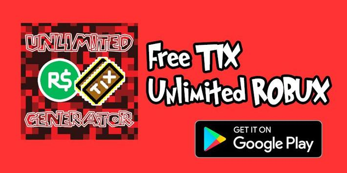 Unlimited Robux and Tix For roblox Prank apk screenshot
