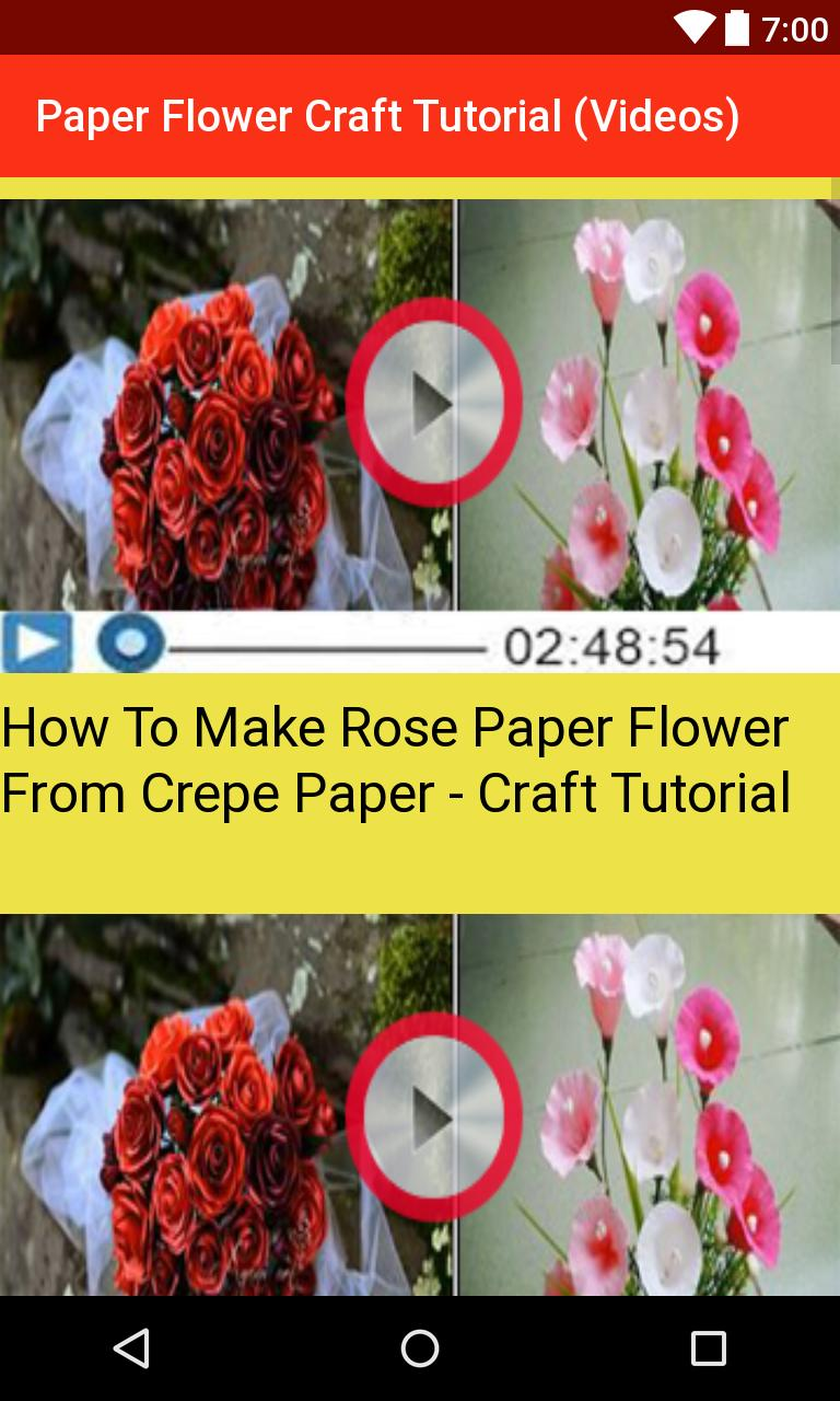 Paper Flower Craft Tutorial Videos For Android Apk Download