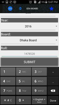SSC RESULT-2016 apk screenshot