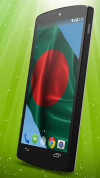 Bangladesh Flag Live Wallpaper apk screenshot