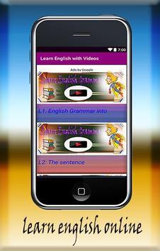 Learn English with Videos apk screenshot