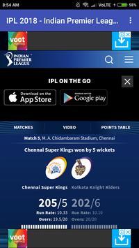 IPL LIVE 2018 screenshot 2