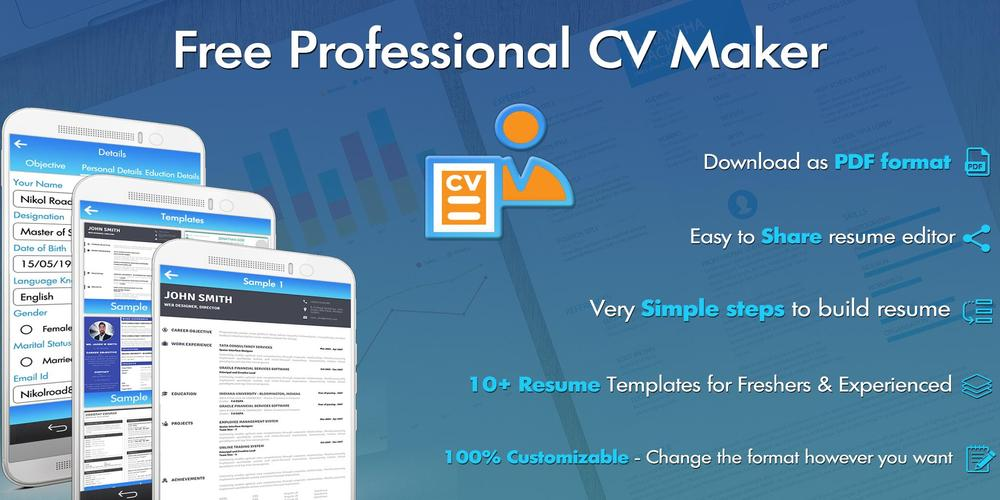 Free Professional CV Maker - Resume Templates for Android - APK Download