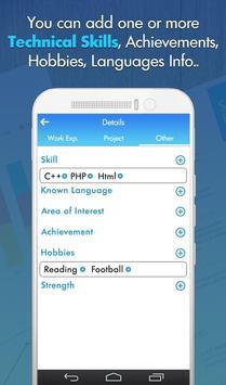 Free Professional CV Maker - Resume Templates screenshot 3