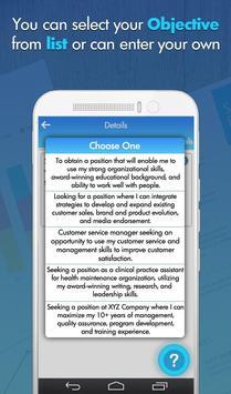 Free Professional CV Maker - Resume Templates screenshot 4