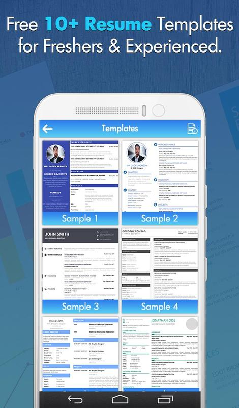 free professional cv maker resume templates for android apk download