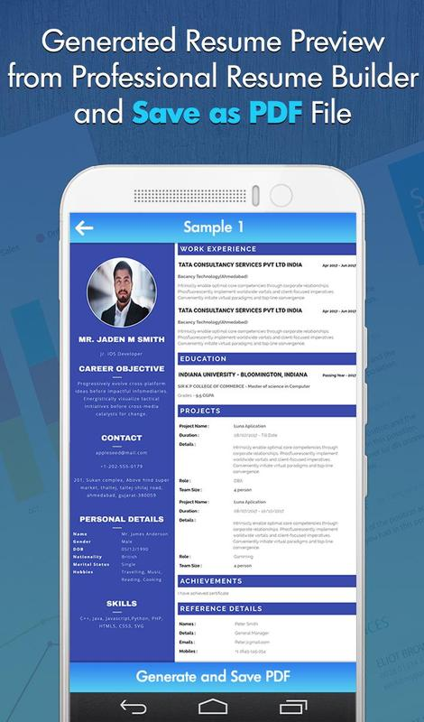 free professional cv maker resume templates screenshot 7