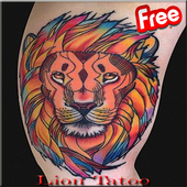 3D Lions Tattoo Design icon