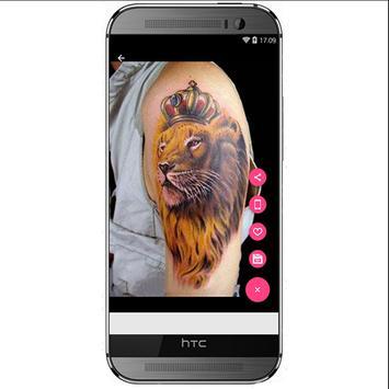 3D Lions Tattoo Design screenshot 2
