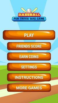 Baseball Fun Trivia Quiz Game poster