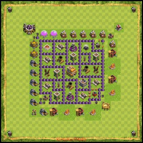 Base Map Coc Town Hall 7 For Android Apk Download