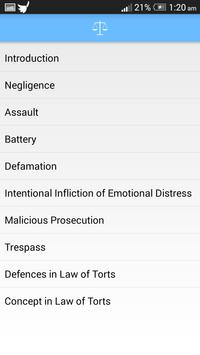 Basics of Law of Torts poster