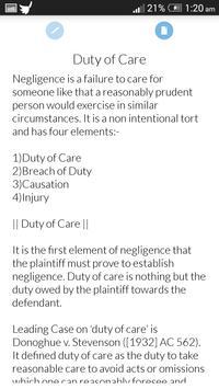 Basics of Law of Torts apk screenshot