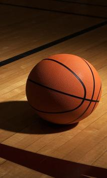 basketball ball live wallpaper poster