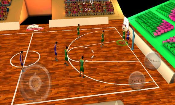 Basketball 3d poster