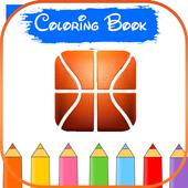 Basketball 3D Logo Coloring icon