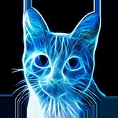 Neon cat icon