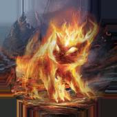 Fiery cat icon