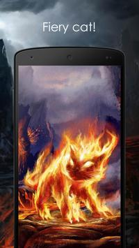 Fiery cat poster