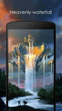 Heavenly waterfall poster