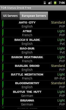 TOR Status Droid FREE apk screenshot