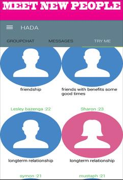 HADA CHAT,DATE,MEET,PEOPLE poster