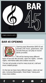 BAR 45 Social Music Lounge poster