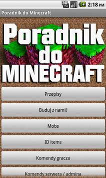 Poradnik do Minecraft'a poster
