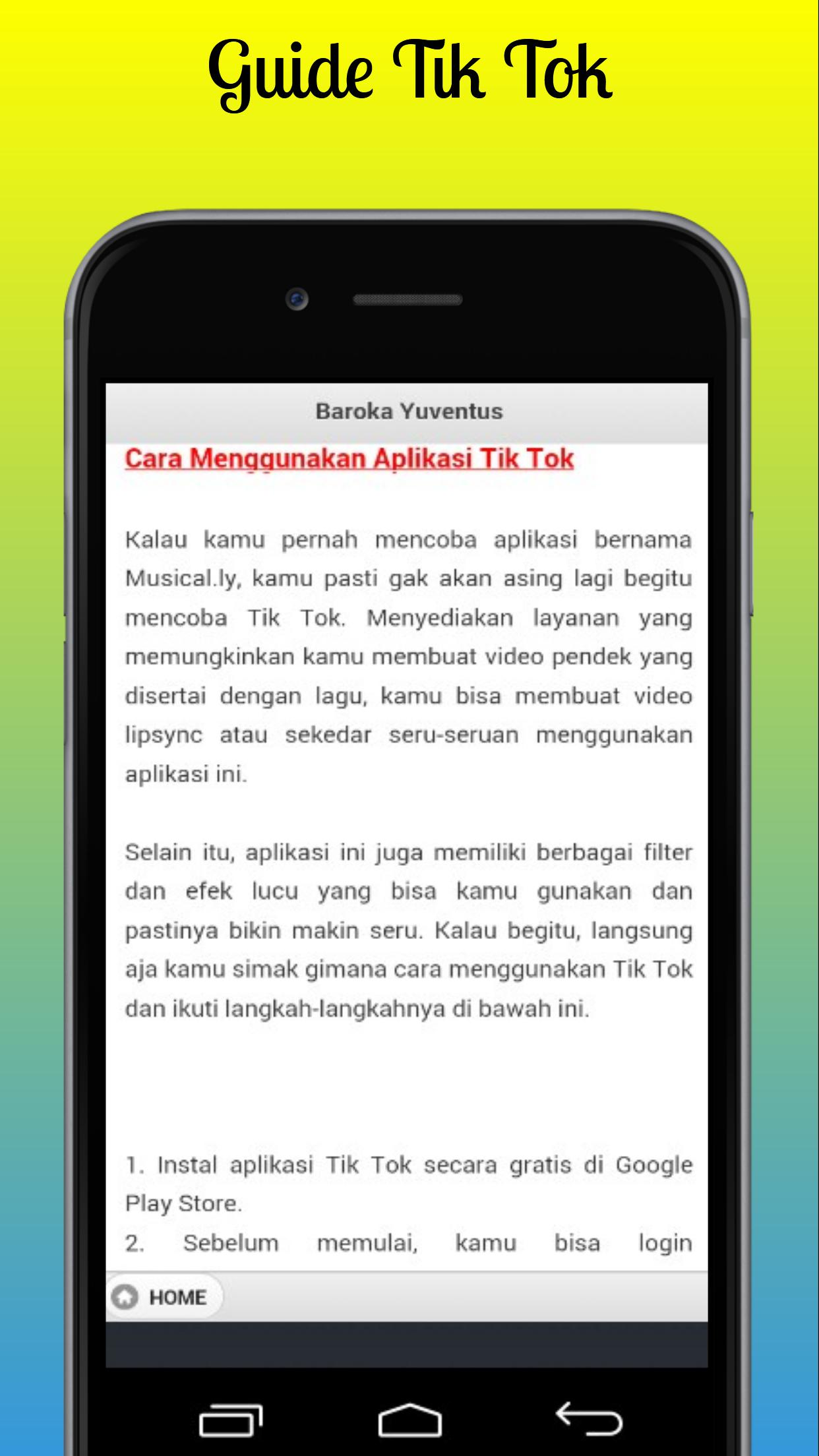 Guide Tik Tok for Android - APK Download