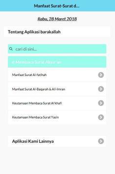 Manfaat Membaca Surat dan Ayat Suci Al-qur'an poster