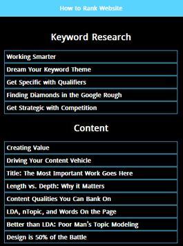 Website Ranking poster