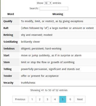 Most Common GRE words apk screenshot