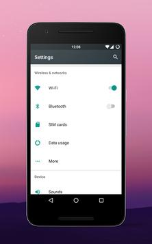 Android N Style cm13 theme apk screenshot