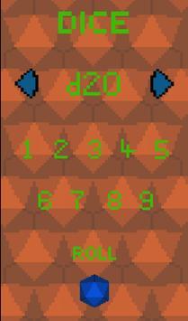 RPG Pixel Dice poster