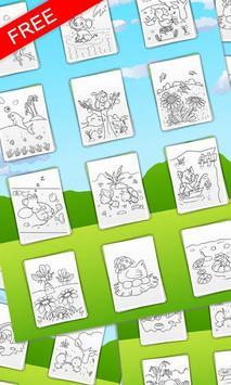 Coloring book Animal friends screenshot 2