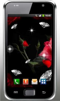 Diamond n Roses live wallpaper apk screenshot