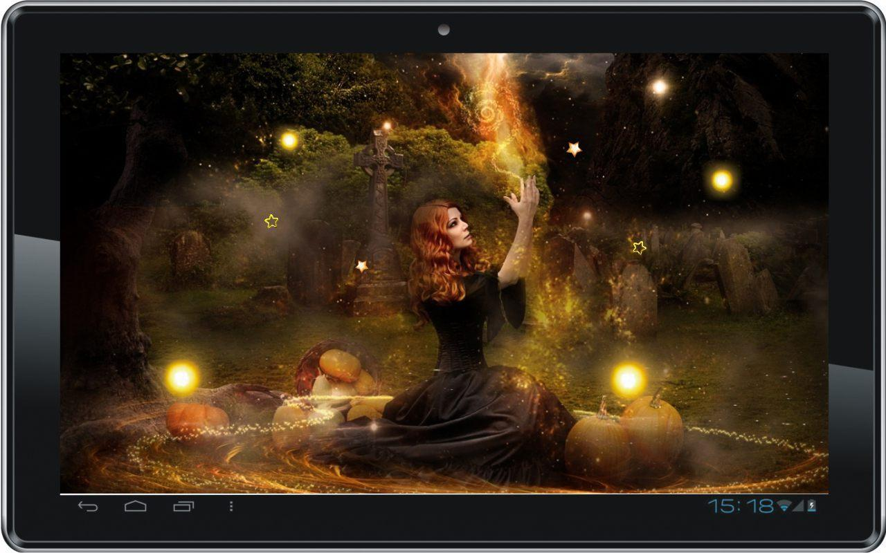 Pagan Wallpaper For Android: Halloween Witch Live Wallpaper For Android