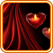 Heart n Candle live wallpaper icon