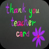 Thank You Teacher Card icon
