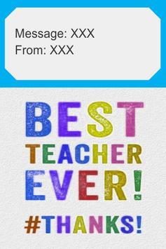 Thank You Teacher Card poster