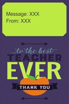 Thank You Teacher Card apk screenshot