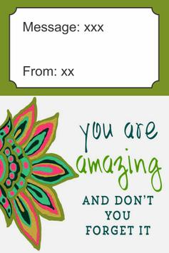You Are Amazing Card poster